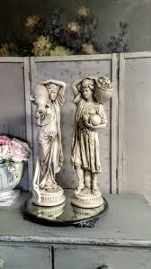 gorgeous vintage french statues boy and