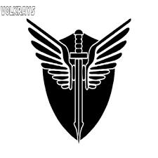 Volkrays Personality Car Sticker Dragon Sword Slayer Vikings Knights Art Decor Accessories Vinyl Decal Black Silver 15cm 12cm Leather Bag