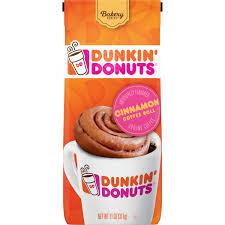 dunkin donuts cinnamon coffee roll