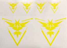 Car Window Laptop Vinyl Decal Sticker Pokemon 4x Pokemon Go Team Valor Symbol Rainbowlands Lk