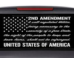 2nd Amendment Car Decal Window Decal Usa Decal 2nd Vinyl Window Decals Wooden American Flag Window Decals
