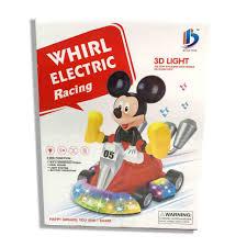 🔥🔥 Đồ chơi xe đua chú chuột Mickey chạy pin - đèn - nhạc - 8899-50 🔥🔥
