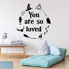 com quotes wall sticker mural decal art home decor harry
