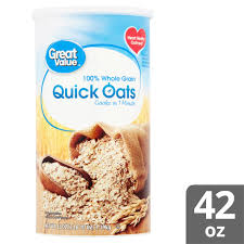great value quick oats 42 oz canister