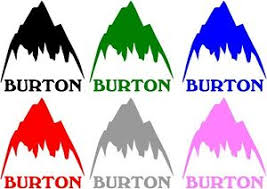 Burton Mountain Vinyl Sticker Decal Snowboarding Ebay