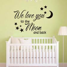 Quote Wall Decal We Love You Vinyl Sticker Nursery For Home Wall Decor Ebay