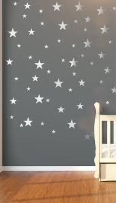 Nursery Wall Decals Wall Stickers 120 Silver Metallic Stars Etsy Nursery Wall Stickers Nursery Wall Decals Baby Room Decor