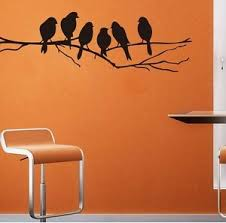 Black Birds Wall Decal Living Dinning Room Nursery Country Removable Mpn8216 Ebay