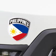 Philippine Flag Shield Sticker Car Motorcycle Window Decals Personalized Accessories Decoration Car Stickers Aliexpress