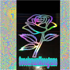 Holographic Color Changing Rose Car Windshield Decal For Etsy