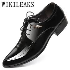 designer italian patent leather shoes