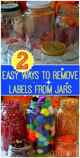 two easy ways to remove jar labels