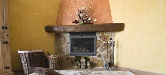 constructing a river rock fireplace