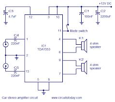 car stereo lifier circuit diagram