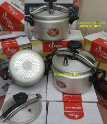 Nồi áp suất 7 lít livingcook LC As24 dùng cho bếp gas Bếp từ , noi ...