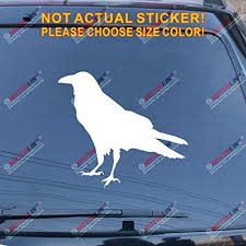 Amazon Com Odin Raven Decal Sticker Viking Norse Nord Norway Car Vinyl Pick Size Color A White 20 50 8cm Arts Crafts Sewing