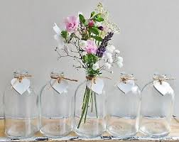 shabby chic small glass bud vases