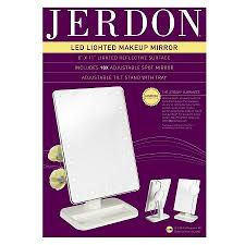 jerdon portable led lighted adjustable