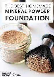 homemade mineral makeup foundation