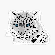 Snow Leopard Stickers Redbubble
