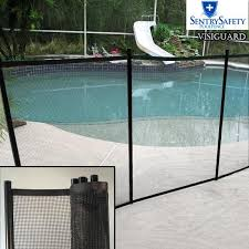 Visiguard By Sentry Safety Child Safe Pool Fence The Most See Thru Pool Fence On The Market 4 X 12 Black Border Black Mesh Walmart Com Walmart Com