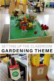 classroom for the gardening theme