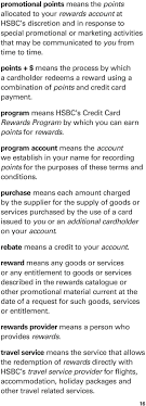hsbc s credit card rewards program