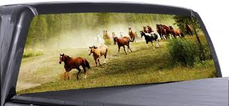 Amazon Com Vuscapes Horses 03 Lee873 Rear Window Truck Graphics Decal Suv View Thru Vinyl Automotive