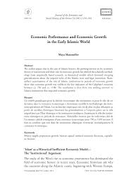 pdf economic performance and economic growth in the early islamic