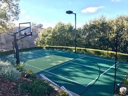 Backyard Basketball Courts Outdoor Residential Allsport America