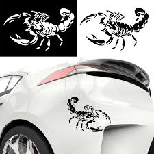 Fashion 3d Big Scorpion Reflective Personalized Car Styling Bumper Stickers Vinyl Decal Sticker Scratch Body Cover Car Stickers Aliexpress