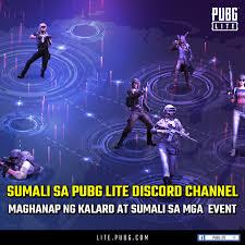 May official PUBG LITE Discord na para ...