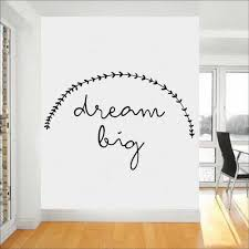 Dream Big Wall Decals Office Inspirational Quotes Home Decor Gym Company Culture Removable Vinyl Classroom Wall Stickers Y487 Wall Stickers Aliexpress
