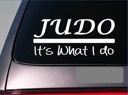 Judo Sticker Decal Black Belt Master Kickboxing Spar Karate Mma Grappling Window Sticker 20cm Car Stickers Aliexpress