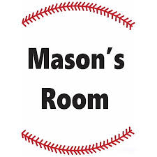 Personalized Name Vinyl Decal Sticker Custom Initial Wall Art Personalization Decor Childrens Boys Bedroom Baseball Sports Welcome Sign 20 Inches X 20 Inches Walmart Com