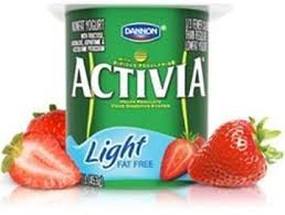 activia light strawberry yogurt 120 g
