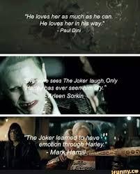 does the joker really love harley quinn quora