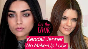 kendall jenner inspired no makeup look