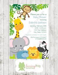 Muchacho O Muchacha Animales Salvajes Selva Safari Invitaciones