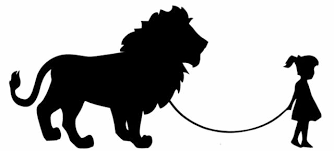Girl Walking A Lion Vinyl Decal Sticker Car Window Wall Bumper Funny Pet Big Cat For Sale Online