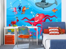 Photo Wallpaper Octopus And Shark For Children Wall Murals