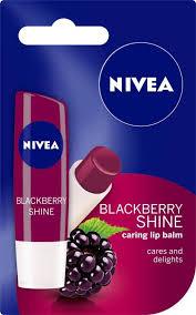 nivea blackberry shine caring lip balm