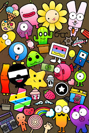 free doodle art wallpaper