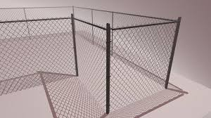 Artstation Modular Chain Link Fence Asset Dylan Burgess