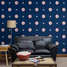 new york yankees logo pattern blue