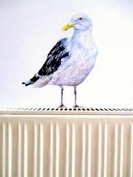 Seagull Wall Sticker Gull Wall Decal Bathroom Decor Bird Etsy