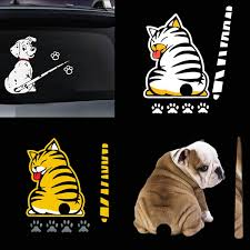 Rear Window Wiper Cat Spotted Dog Removable Waterproof Sticker Wiper Decal Tags For Rear Wish