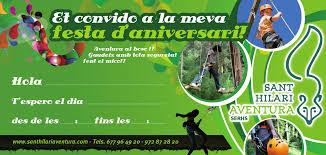 Fiestas De Cumpleanos Originales Parque De Aventura Sant Hilari