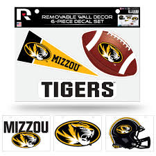 Missouri Mizzou Tigers Ncaa Set Of 6 Removable Wall Decal Stickers Walmart Com Walmart Com