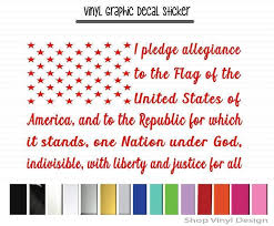 I Pledge Allegiance To The Flag Of The United States Of America Window Truck Window Vinyl Graphic Decal Sticker Chevy Girl Bowtie Heart Rear Window Truck Window Vinyl Graphic Decal S